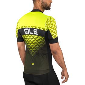Alé Cycling PRS Hexa SS Jersey Herren black-yellow flou